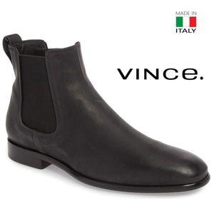 Vince Men's Black Leather Chelsea Boots